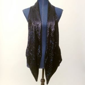 ⭐⭐H&M Black Sequin Vest Sparkles Large ⭐⭐